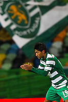 Joie Junya Tanaka / Drapeau Sporting - 14.01.2015 - Sporting / Boavista -Coupe de la ligue du Portugal-<br /> Photo : Carlos Rodrigues / Icon Sport