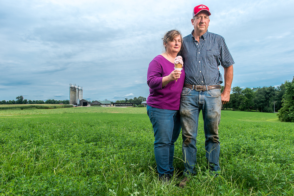 Kate and David Dallam, owners of Broom's Bloom Dairy, Harford County, Maryland