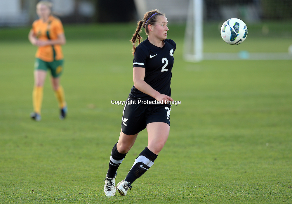 Holly Patterson in action. Junior Football Ferns v Young Matildas. Kristin School, Albany. Thursday 25 July 2013. Photo: Andrew Cornaga/Photosport.co.nz