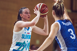 Marusa Senicar of Slovenia vs Ivana Jakubcova of Slovakia during Women's Basketball - Slovenia vs Slovaska on the 14th of June 2019, Dvorana Poden, Skofja Loka, Slovenia. Photo by Matic Ritonja / Sportida
