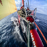Leg Zero, St. Malo - Lisbon: DCIM\167_VIRB\VIRB0241- on board xx, . Photo by Jen Edney/Volvo Ocean Race. 14August, 2017