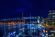 Fireworks on English Bay for Celebration of Light - Team Sweden<br /> <br /> Show overlooking False Creek Yacht Club Marina and the Burrard Bridge.<br /> <br /> f14 @ 30 s, 1600 ISO<br /> AF Zoom 24-70mm f/2.8G at 32 mm on NIKON D850
