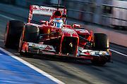 February 20, 2013 - Barcelona Spain. Fernando Alonso, Scuderia Ferrari  during pre-season testing from Circuit de Catalunya.