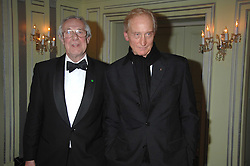 Left to right, BARRY NORMAN and CHARLES DANCE attending the 27th Awards of the London Film Critics' Circle 2007 in aid of the NSPCC held at The Dorchester, Park Lane, London on 8th February 2007.<br />