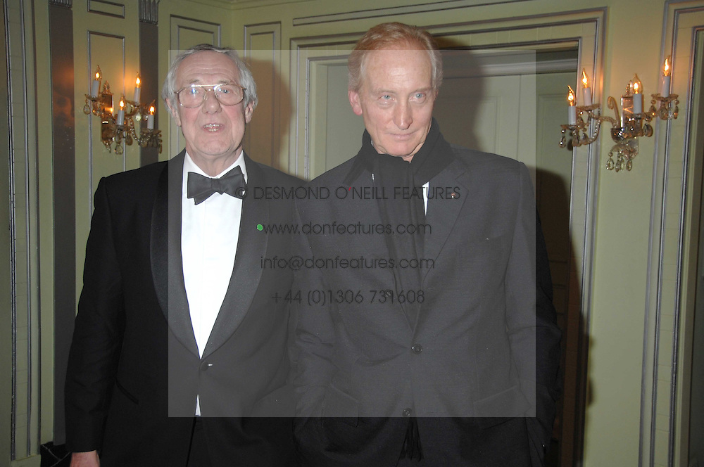 Left to right, BARRY NORMAN and CHARLES DANCE attending the 27th Awards of the London Film Critics' Circle 2007 in aid of the NSPCC held at The Dorchester, Park Lane, London on 8th February 2007.<br /><br />NON EXCLUSIVE - WORLD RIGHTS