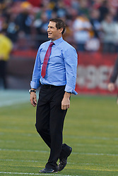 Dec 19, 2011; San Francisco, CA, USA; San Francisco 49ers former quarterback Steve Young stands on the field before the game against the Pittsburgh Steelers at Candlestick Park. Mandatory Credit: Jason O. Watson-US PRESSWIRE
