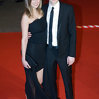 LONDON - FEBRUARY 10: Sam Riley and Alexandra Maria Lara arrive   at the Orange British Academy Film Awards at the Royal Opera House on February 10, 2008 in London, England.