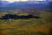Aerial view of Alaska south of Gates of the Arctic National Park, north of Bettles, Alaska