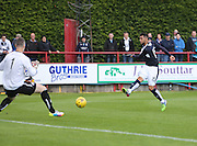 Kane Hemmings is denied by Brechin keeper Graeme Smith - Brechin City v Dundee, pre-season friendly at Starks Park<br /> <br />  - &copy; David Young - www.davidyoungphoto.co.uk - email: davidyoungphoto@gmail.com