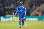 Leicester City midfielder NGolo Kante (14)  during the Barclays Premier League match between Leicester City and Newcastle United at the King Power Stadium, Leicester, England on 14 March 2016. Photo by Simon Davies.