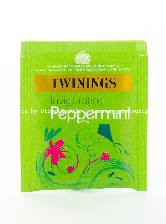 London, England - March 07, 2017: Twinings Peppermint Tea, Twinings was founded by Thomas Twinings around 1706 in London, England.