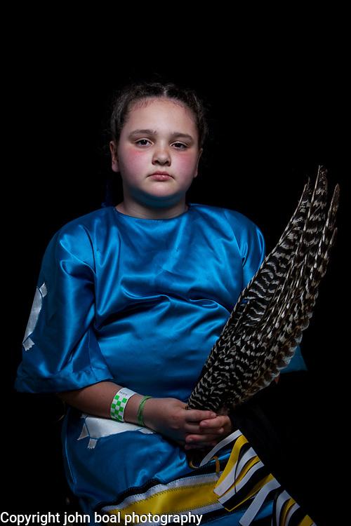 Makayla Branham, Monacan.  Portraits at the Monacan Powwow.  Elon, VA.  Saturday, May 16, 2015.  John Boal Photography