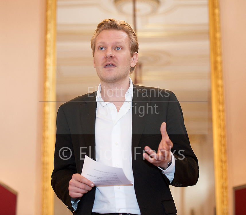 Kasper Holten of The  Royal Opera House announces the 2012/13 Season introducing the new artistic teams at the Royal Opera and Royal Ballet<br /> <br /> 14th March 2012 <br /> at The Royal Opera House, Covent Garden, London, Great Britain <br /> <br /> <br /> Kasper Holten<br /> <br /> <br /> Photograph by Elliott Franks
