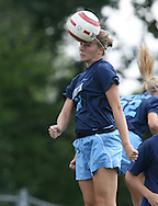 North Carolina's Kristi Eveland during pregame warmups on Sunday September 17th, 2006 at Koskinen Stadium on the campus of the Duke University in Durham, North Carolina. The University of North Carolina Tarheels defeated the University of Florida Gators 1-0 in an NCAA Division I Women's Soccer game.