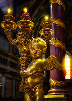"""Baldachin Golden Angel Candelabra - Santa Maria Maggiore in Rome""…<br />