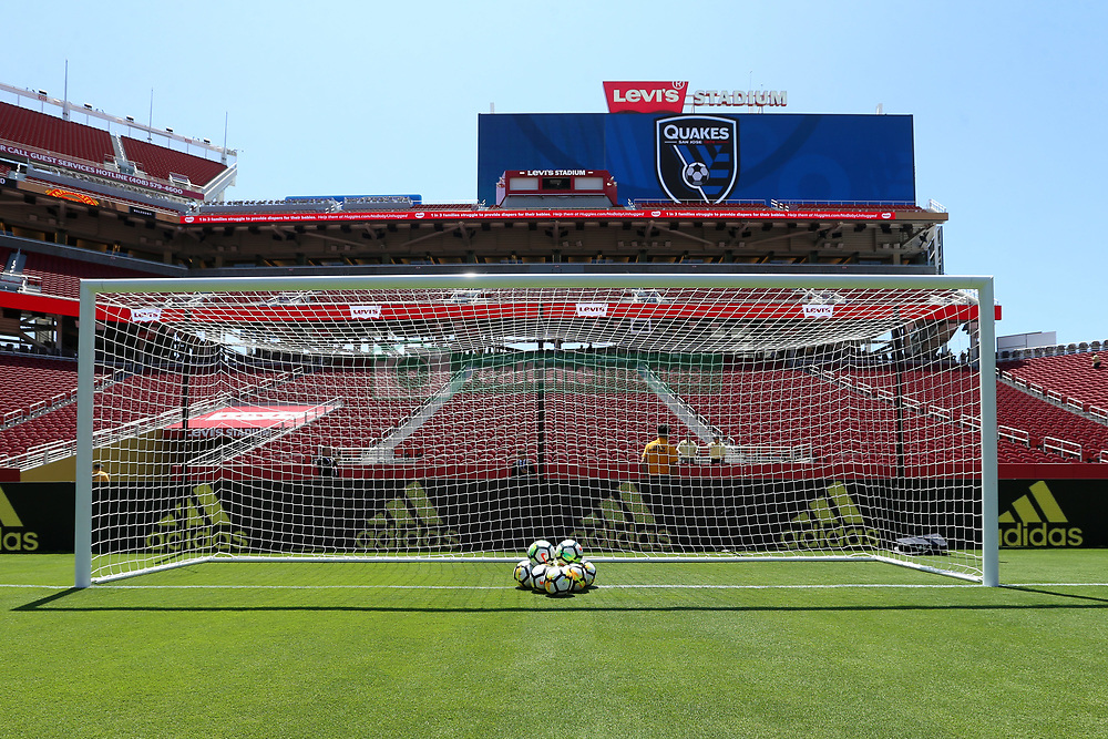 July 22, 2018 - Santa Clara, California, United States - Santa Clara, CA - Sunday July 22, 2018: Balls, Levi's Stadium during a friendly match between the San Jose Earthquakes and Manchester United FC at Levi's Stadium. (Credit Image: © Maciek Gudrymowicz/ISIPhotos via ZUMA Wire)