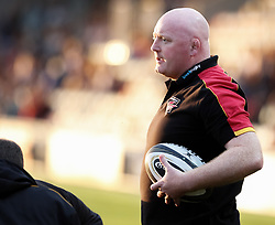 Dragons' Head Coach Bernard Jackman during the pre match warm up<br /> <br /> Photographer Simon King/Replay Images<br /> <br /> Guinness PRO14 Round 1 - Dragons v Benetton Treviso - Saturday 1st September 2018 - Rodney Parade - Newport<br /> <br /> World Copyright © Replay Images . All rights reserved. info@replayimages.co.uk - http://replayimages.co.uk