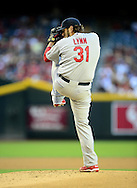 May. 7, 2012; Phoenix, AZ, USA; St. Louis Cardinals pitcher Lance Lynn (31) during the game against the Arizona Diamondbacks at Chase Field. The Cardinals defeated the Diamondbacks 9-6. Mandatory Credit: Jennifer Stewart-US PRESSWIRE.