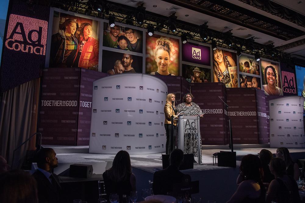 Ad Council Awards Dinner 2017 honoring Paul Polman at the Hilton Hotel in New York City Nov 30, 2017. Photo Ken Cedeno