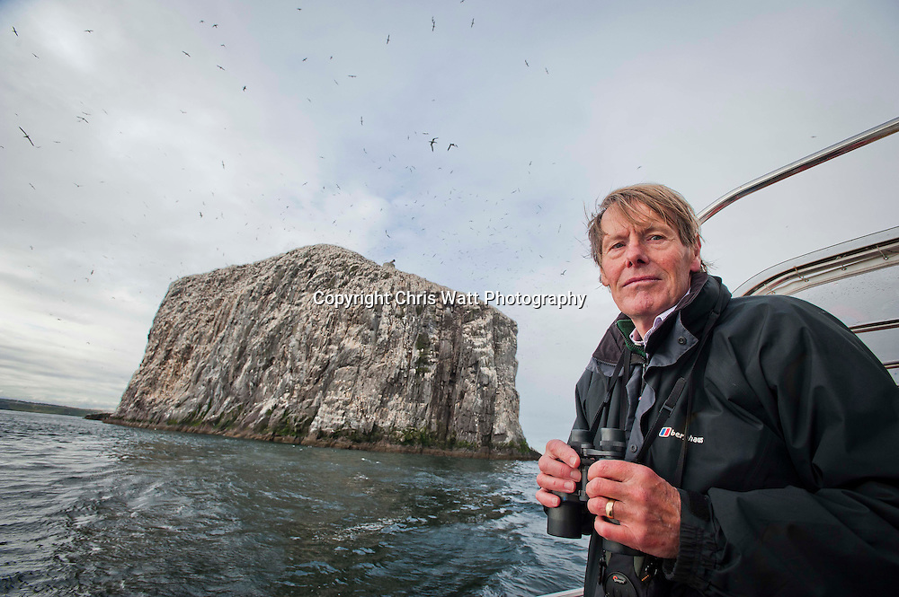 Picture Copyright Chris Watt<br /> Tel -  07887 554 193<br /> info@chriswatt.com<br /> www.chriswatt.com<br /> <br /> Bass Rock,  John Hunt (Nature Conservation Consultant) and Philip Taylor (RSPB) (beard)