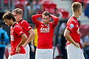 ALKMAAR - 30-08-2015, AZ - Roda JC, AFAS Stadion, 0-1, teleurstelling, AZ speler Muamer Tankovic.