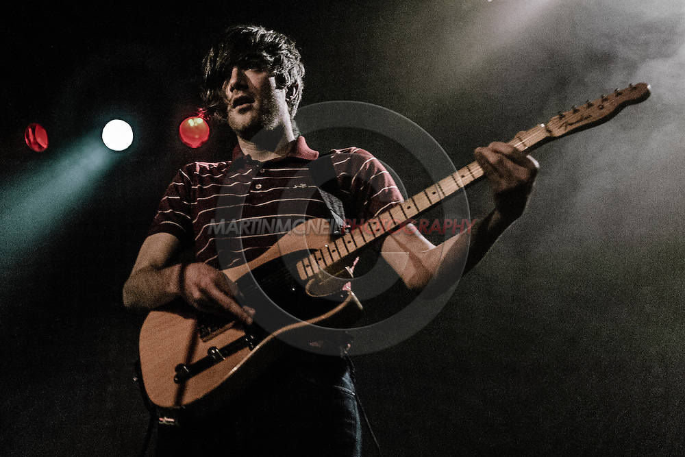 """GLASGOW, UNITED KINGDOM, APRIL 12, 2008: Keith Murray of the band """"We Are Sceintists"""" performs during a concert inside the Glasgow Barrowlands Ballroom on Saturday, April 12, 2008 in Glasgow, Scotland (Copyright: Martin McNeil)"""