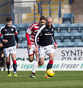 Dundee&rsquo;s James Vincent goes away from Hamilton&rsquo;s Alexandre D'Acol - Dundee v Hamilton Academical in the Ladbrokes Scottish Premiership at Dens Park, Dundee, Photo: David Young<br /> <br />  - &copy; David Young - www.davidyoungphoto.co.uk - email: davidyoungphoto@gmail.com