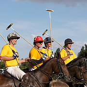 'A Day at the Polo'<br /> The Australian team ready for action during the International Polo Test match between Australia and England at the Windsor Polo Club, Richmond, Sydney, Australia on March 29, 2009. Australia won the match 8-7.  Photo Tim Clayton