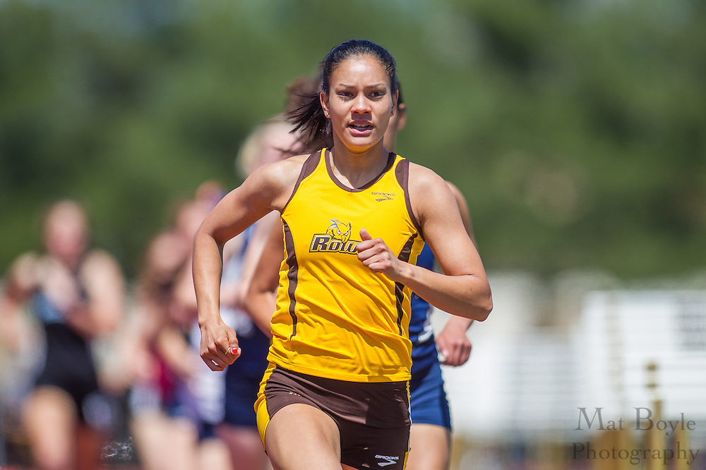 Rowan University's Vanessa Wright competes in the women's 1500 meter at the NJAC Track and Field Championships at Richard Wacker Stadium on the campus of  Rowan University  in Glassboro, NJ on Sunday May 5, 2013. (photo / Mat Boyle)