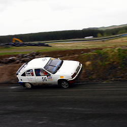 MSA British Rallycross Round 3, Knockhill Scotland 12th May 2013. Local driver Jim Black, Vauxhall Astra - Retro Rallycross 958 has a heart in mouth moment on the loose section early in the day. (c) MATT BRISTOW