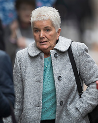 © Licensed to London News Pictures. 14/11/2016. London, UK. Jean Leadbeater mother of murdered MP Jo Cox attends the trial of defendent Thomas Mair at The Old Bailey. Mair allegedly shot and stabbed the 41-year-old Member of Parliament outside her constituency surgery in Birstall, near Leeds, Yorkshire on June 16 this year. Photo credit: Peter Macdiarmid/LNP