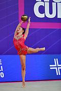 Tomazin Anja during qualifying at ball in Pesaro World Cup 13 April, 2018.  Anja was born in Ljubljana Slovenia in 2000.