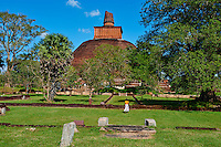 Sri Lanka, province du Centre-Nord, site d'Anuradhapura classé Patrimoine Mondial de l'UNESCO, ancienne capitale du Sri Lanka, Dagoba et monastère d'Abhayagiri // Sri Lanka, Ceylon, North Central Province, Anuradhapura, historic capital of Sri Lanka, UNESCO World Heritage Site, Abhayagiri temple