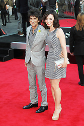 © Licensed to London News Pictures. 20/08/2013, UK. Ronnie Wood; Sally Humphreys,   One Direction: This Is Us - World film premiere, Leicester Square, London UK, 20 August 2013<br />  Photo credit : Richard Goldschmidt/Piqtured/LNP