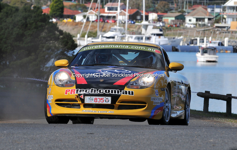 Richard Perini & Chris Perini .2000 Porsche 911 GT3.Prologue.George Town.Targa Tasmania 2009.28th of April 2009.(C) Joel Strickland Photographics.