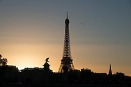 France. Paris. 8th district. Pont Alexandre III bridge and the eiffel tower in the distance