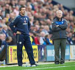 PRESTON, ENGLAND - Saturday, September 24, 2011: Preston North End's manager Phil Brown and Tranmere Rovers' manager Les Parry during the Football League One match at Deepdale. (Pic by Dave Kendall/Propaganda)
