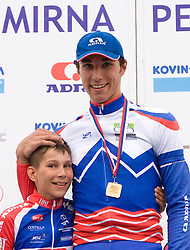 Overall Winner and U23 National Champion Blaz Jarc and brother Aljaz Jarc at Slovenian National Championships in Road cycling, 178 km, on June 28 2009, in Mirna Pec, Slovenia. (Photo by Vid Ponikvar / Sportida)