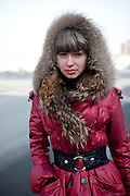 Portrait of a young Russian woman from the city of Vladivostok in Russia. Vladivostok, Russian Federation, Russia, RUS, 13.01.2010.