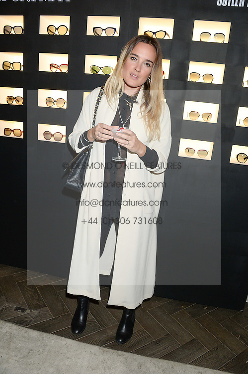 JESS MILLS at the SportMax + Cutler & Gross launch party hosted by Leigh Lezark at The Arts Club, 40 Dover Street, London on 23rd October 2013.