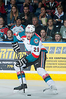 KELOWNA, CANADA - MAY 1: Leon Draisaitl #29 of Kelowna Rockets skates with the puck against the Portland Winterhawks on May 1, 2015 at Prospera Place in Kelowna, British Columbia, Canada.  (Photo by Marissa Baecker/Getty Images)  *** Local Caption *** Leon Draisaitl;