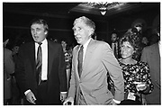 Donald Trump, John Updike. American Booksellers Trade Fair. Las Vegas. 1990. © Copyright Photograph by Dafydd Jones 66 Stockwell Park Rd. London SW9 0DA Tel 020 7733 0108 www.dafjones.com