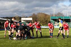 Bristol Bears U18 defend a Saracens u18 possession  - Mandatory by-line: Arron Gent/JMP - 12/01/2020 - RUGBY - Allianz Park - London, England - Saracens U18 v Bristol Bears U18 - Premiership U18 Academy