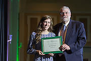 Outstanding Senior Award: Melinda Nelson, Fritz J. and Dolores H. Russ College of Engineering and Technology Student Awards Banquet April 10, 2016. (Photo by Emily Matthews)