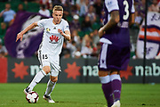PERTH, AUSTRALIA - APRIL 28: Michal Kopzcynski of Wellington Phoenix in action during the A-League Match between then Wellington Phoenix v Perth Glory FC at HBF Park on April 28, 2019 in Perth, Australia. (Photo by Daniel Carson / Photosport)