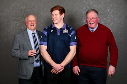 Jack Tovey of Bristol Rugby poses with his sponsors during the Bristol Sport player sponsor evening - Rogan/JMP - 19/03/2018 - SPORT - Ashton Gate Stadium - Bristol, England - Big Sports Breakfast 2017.