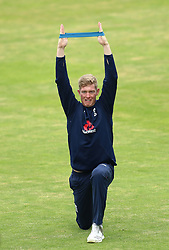 England's Keaton Jennings during a nets session at Headingley, Leeds.