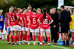 Bristol City Women huddle as Tanya Oxtoby manager of Bristol City Women talks to them in a break in play - Mandatory by-line: Ryan Hiscott/JMP - 29/09/2019 - FOOTBALL - SGS College Stoke Gifford Stadium - Bristol, England - Bristol City Women v Chelsea Women - FA Women's Super League