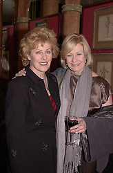 Left to right, actress LYNN REDGRAVE and actress VANESSA<br />  REDGRAVE daughters of actor Michael Redgrave, at a party in <br /> London on 3rd April 2000.OCO 10