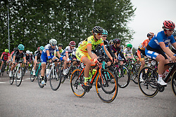 Malgorzata Jasinska (POL) of Ale-Cipollini Cycling Team rides mid-pack during the 141 km road race of the UCI Women's World Tour's 2016 Crescent Vårgårda women's road cycling race on August 21, 2016 in Vårgårda, Sweden. (Photo by Balint Hamvas/Velofocus)